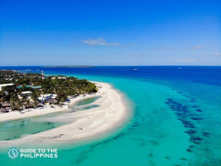 Beautiful sandbar of Kota Beach