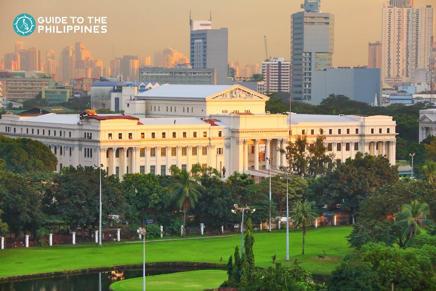The National Museum Complex in Manila, Philippines represents the various facets of art, culture, and history of the country