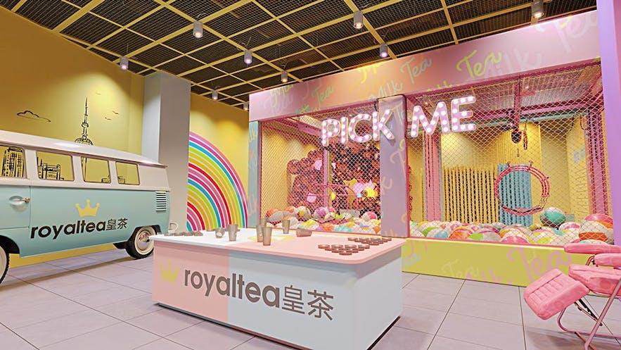 The Dessert Museum's milk tea area