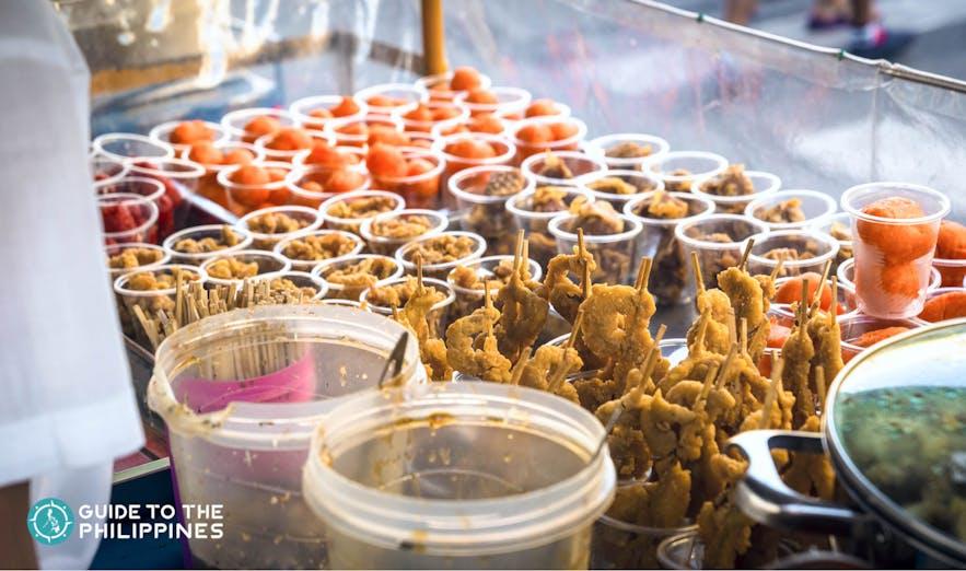 Filipino streetfood in Manila, Philippines