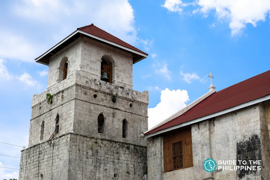 Facade of the Baclayon Church Ruins in Bohol, Philippines