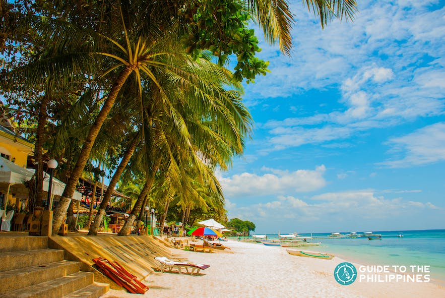 The white sand tropical beach of Panglao Island in Bohol, Philippines