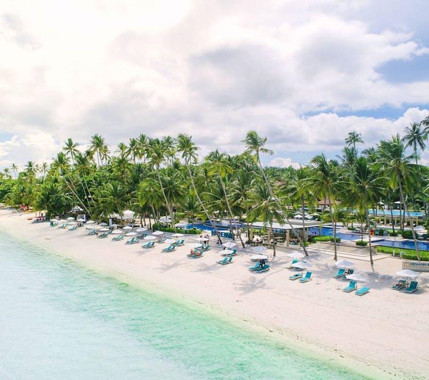 Beachfront of Henann Resort Alone Beach, Bohol