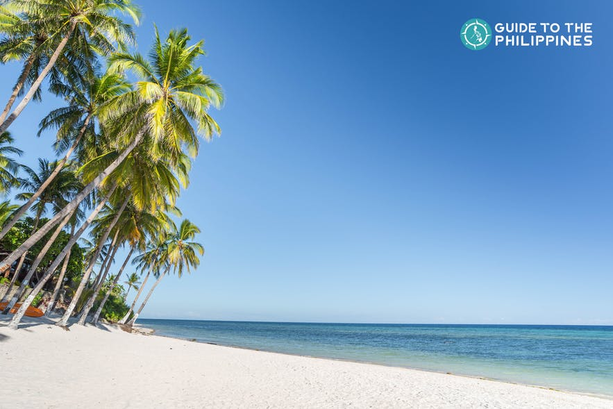 White sand Anda Beach in Bohol, Philippines