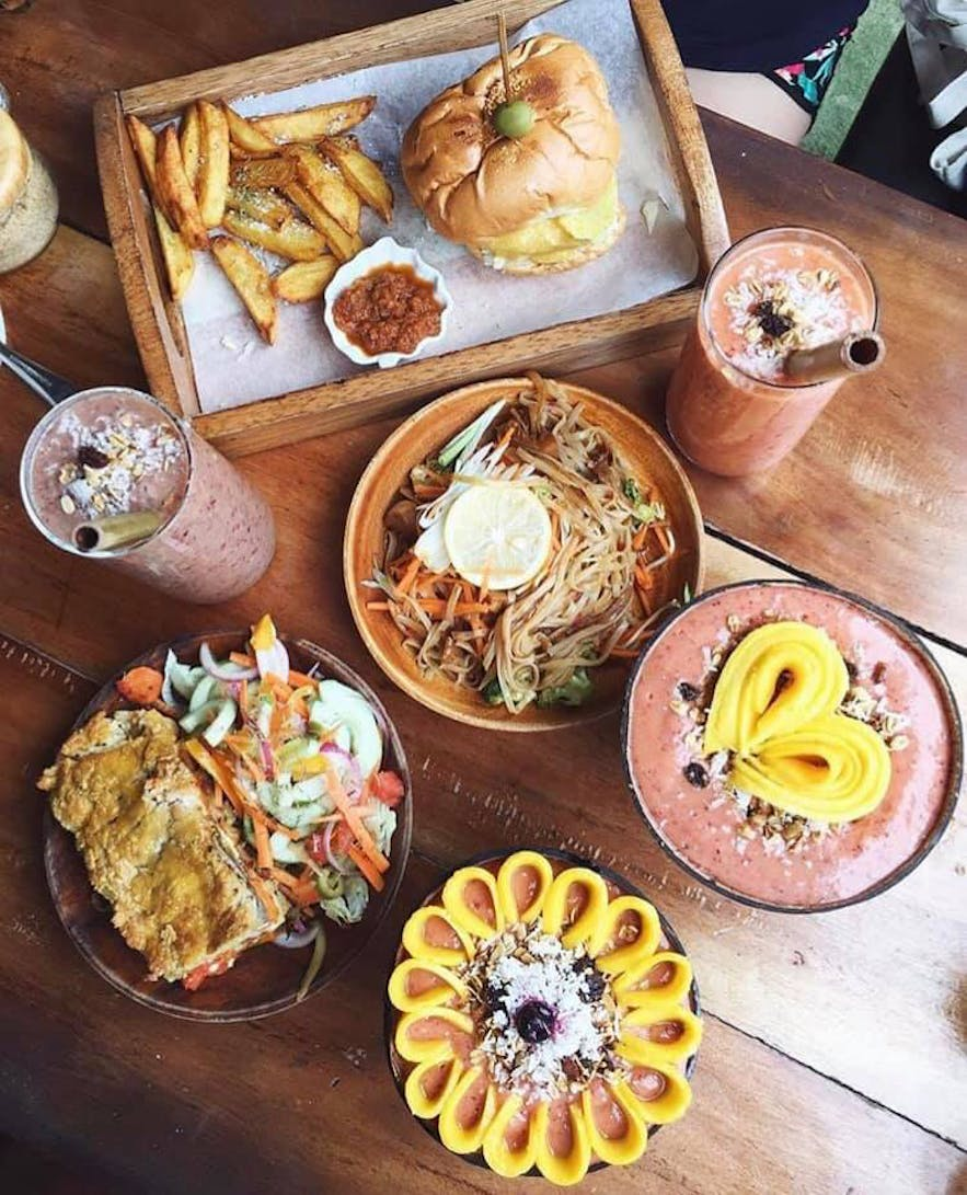 Vegetarian meal options offered by Shaka Bohol