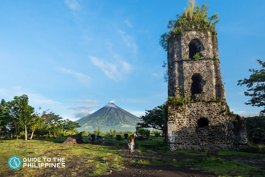 The Cagsawa Church Ruins serves as one of the most iconic tourist landmarks in Legazpi, Albay