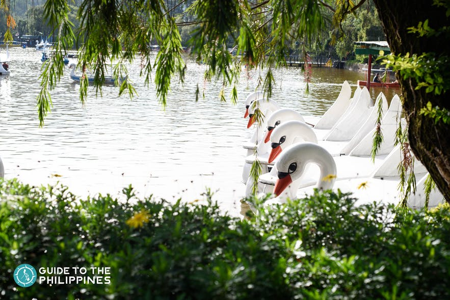 Burnham Park of Baguio City in summer
