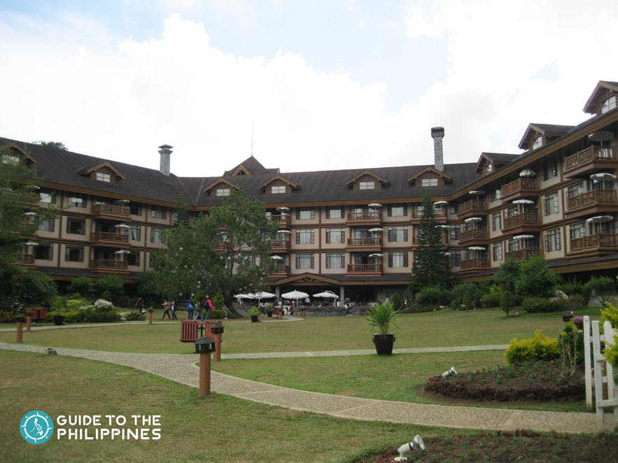 Facade of The Manor at Camp John Hay in Baguio City, Philippines