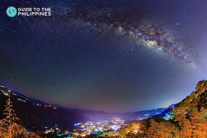 Baguio City's starry night at the Mines View Park