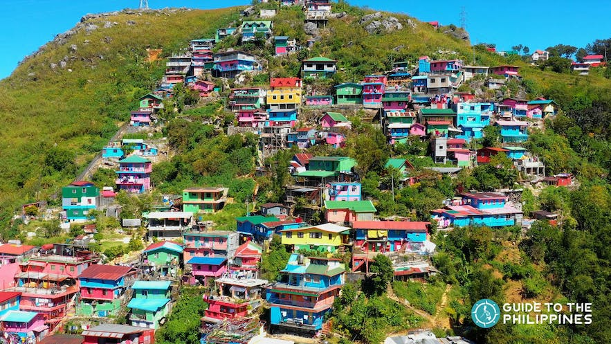 View of the Stobosa Artists' Village, inspired by the Favela Paintings of Rio de Janeiro, Brazil