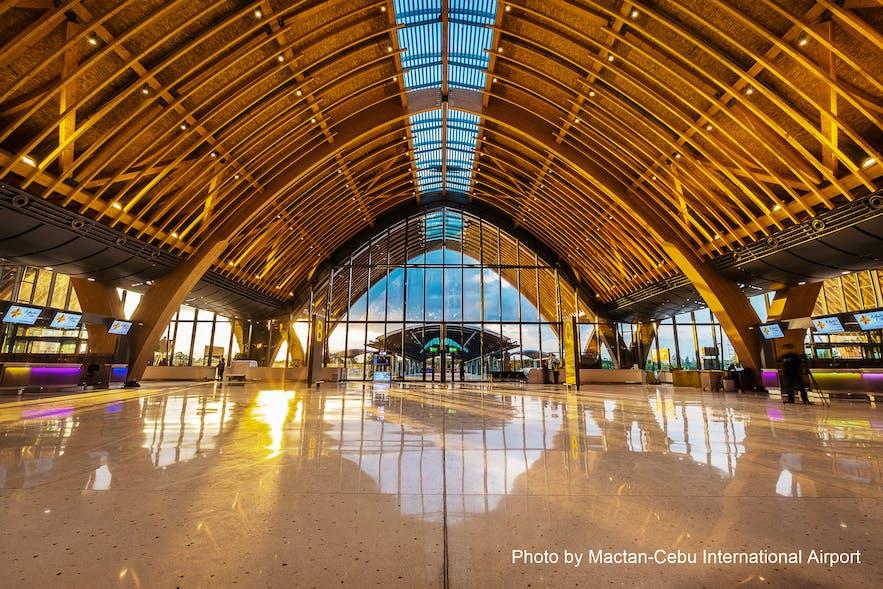 Ocean waves inspired timber roof of Mactan-Cebu International Airport