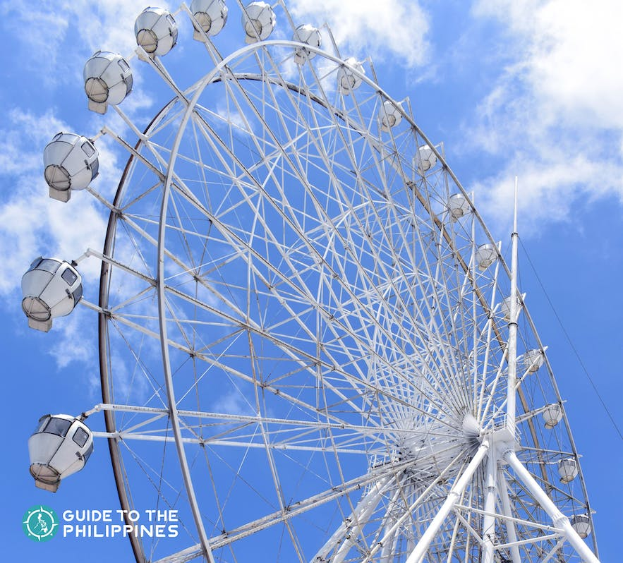 Ferris wheel at Sky Ranch in Tagaytay, Phippines