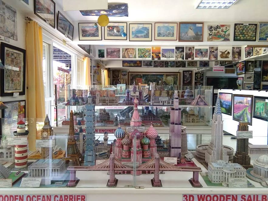 3D wooden puzzle displays at Puzzle Mansion in Tagaytay, Philippines