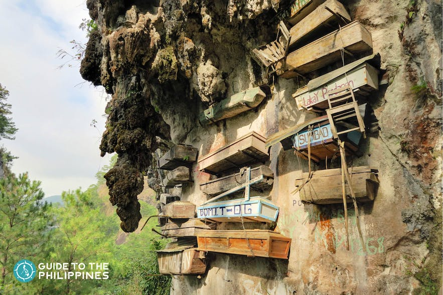 The Famous Sugong Hanging Coffins in Sagada, Mountain Province