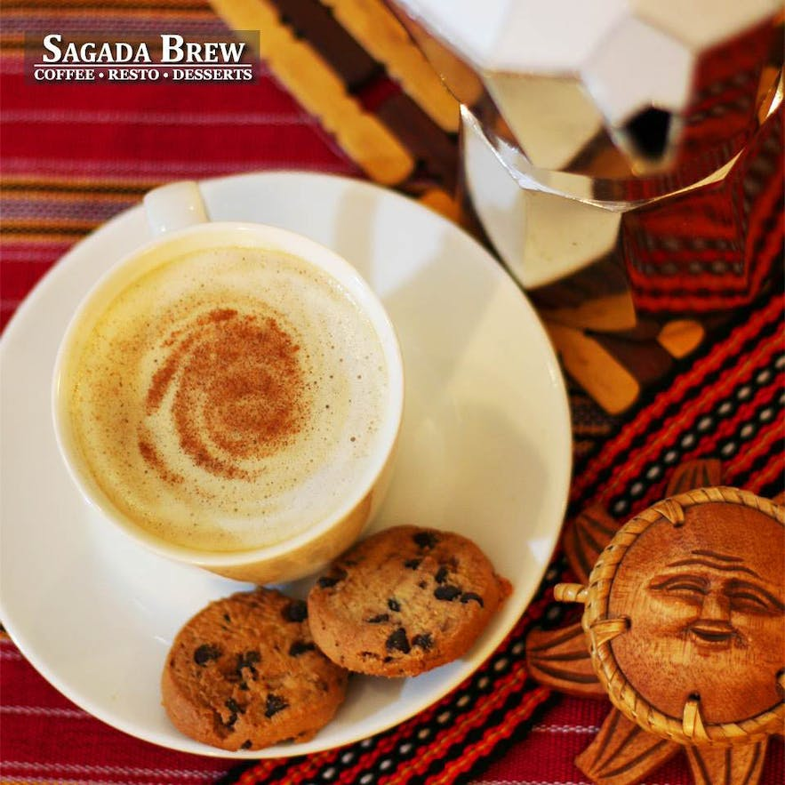 Cup of Cappucino and cookies from Sagada Brew