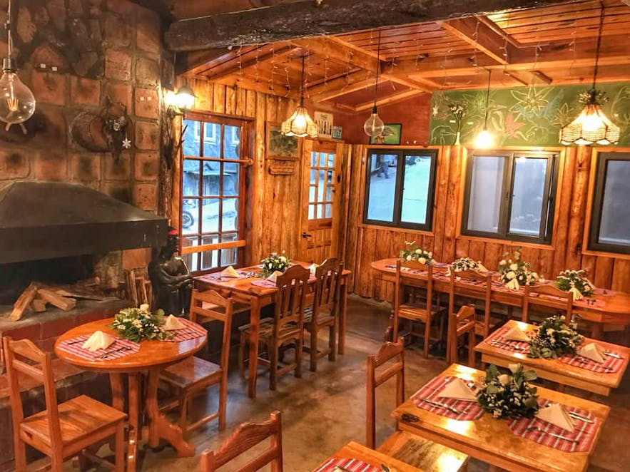 Interiors of Log Cabin in Sagada, Mountain Province