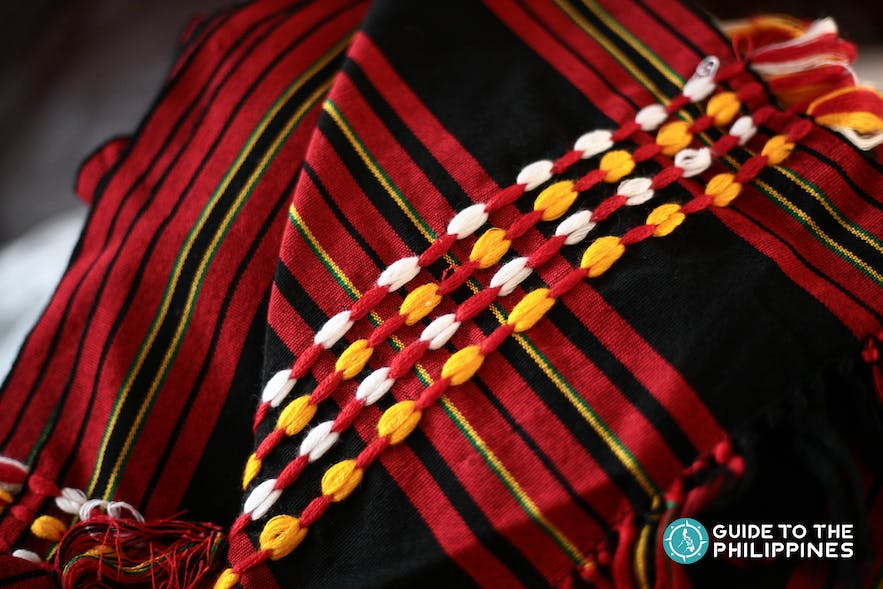 Woven cloth by the Igorots of Sagada, Mountain Province