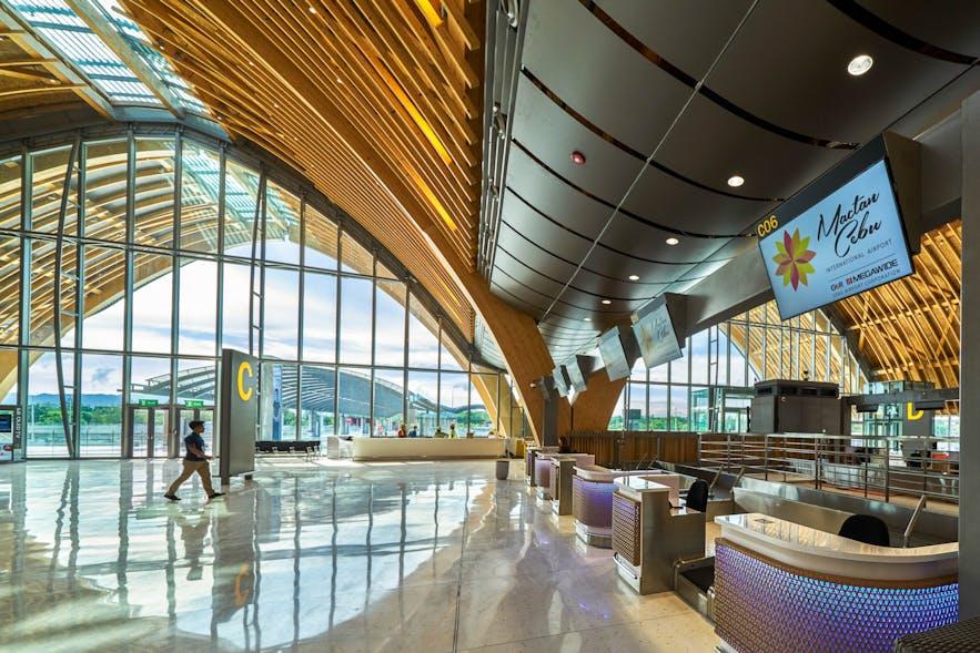 Check-in counter at Mactan-Cebu International Airport