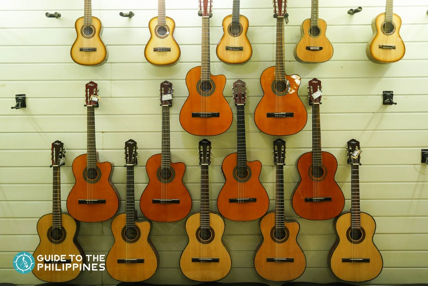Guitars made at Alegre Guitar Factory in Mactan, Cebu