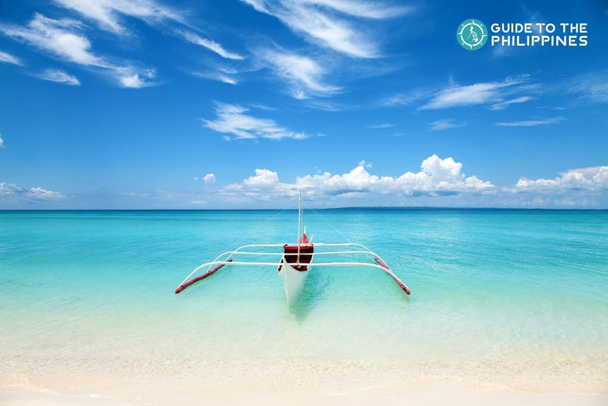 Boat in Mactan, Cebu during summer