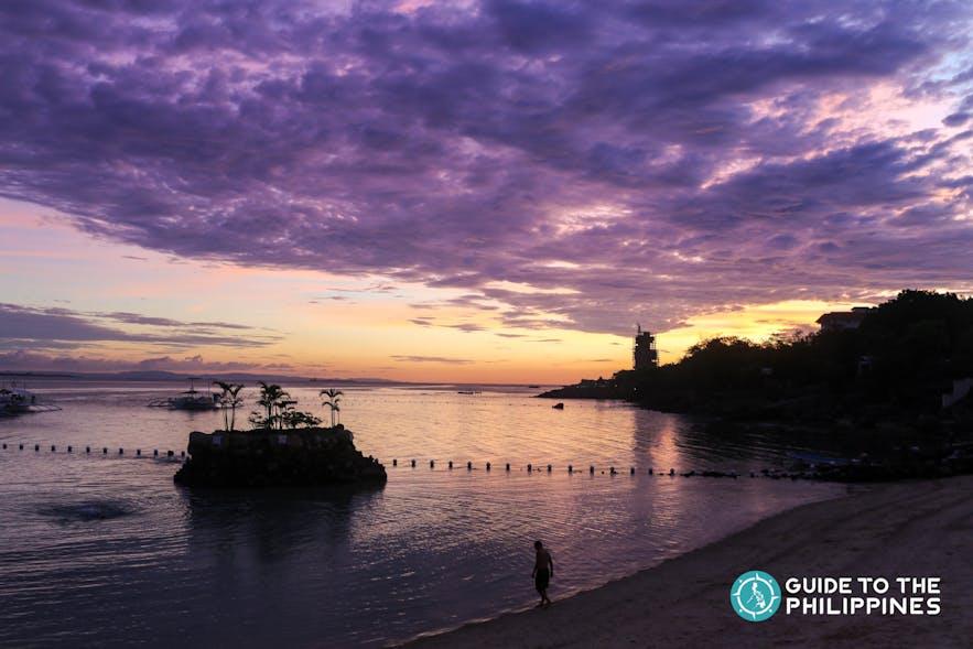 Watch the sunset by this Cebu beach