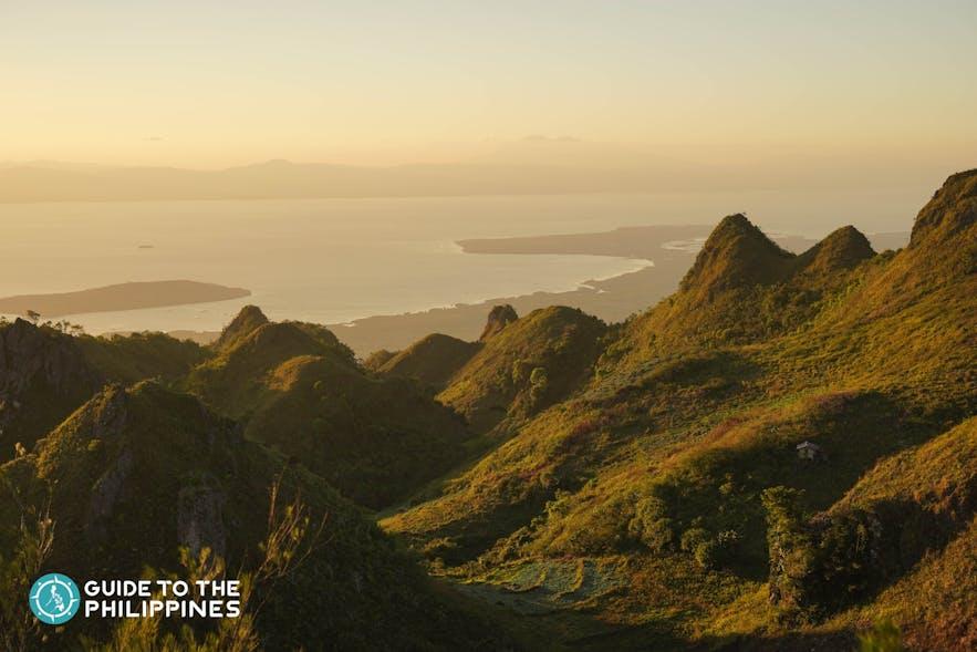 Sunset at the Osmeña Peak in Cebu, Philippines