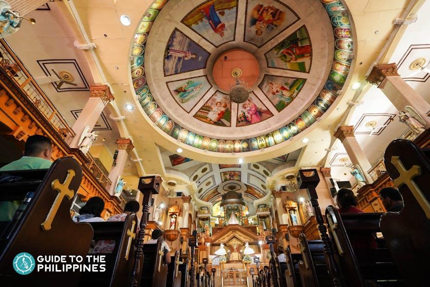 Inside the Simala Church in Sibonga, Cebu