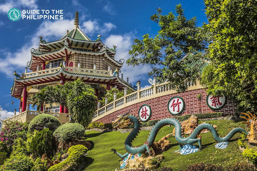 Facade of the Taoist Temple in Cebu, Philippines