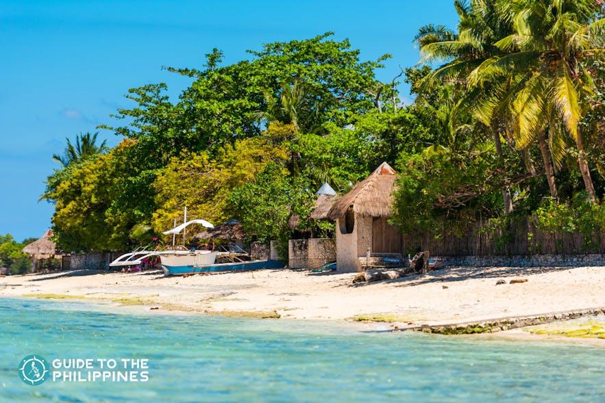 View at White Beach in Moalboal, Cebu