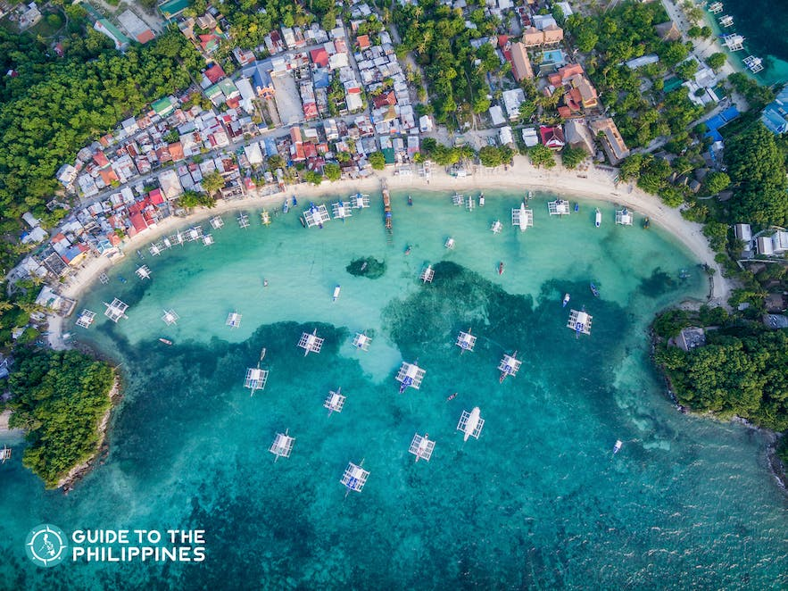 Top view of Malapascua, Cebu