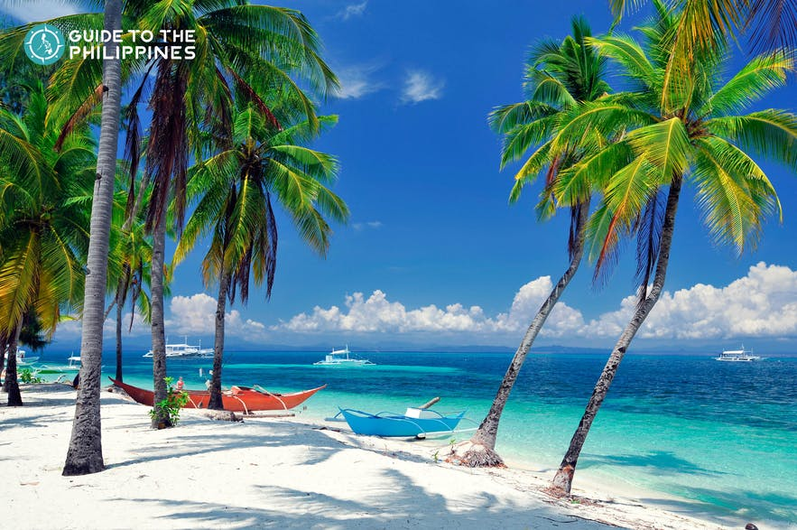 White sand beach in Malapascua Island, Cebu