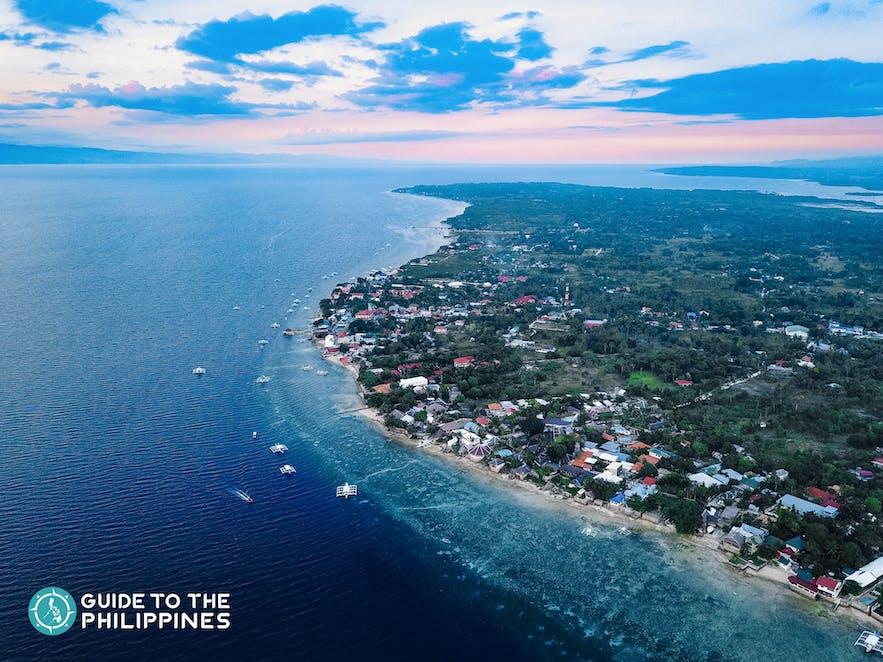 Sunset at Panagsama Beach in Moalboal, Cebu