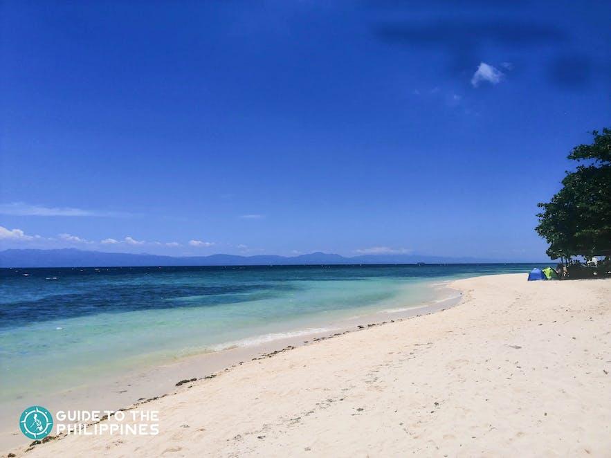 Beach front of Lambug Beach in Badian, Cebu