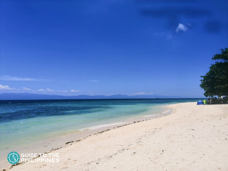 Quiet beach of Lambug Beach