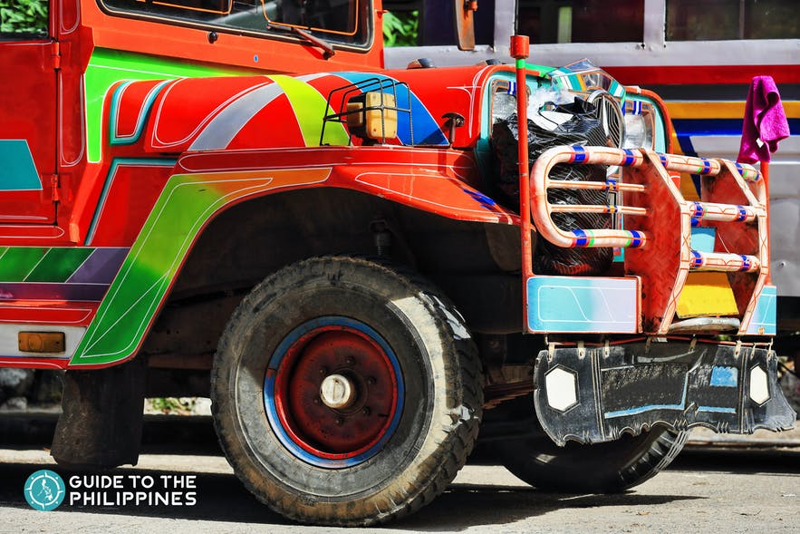 Colorful jeepney in Bataan, Philippines