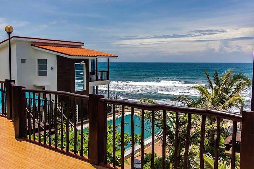 Ocean view from Brisa Marina Beachfront Resort's Premier Couple Room