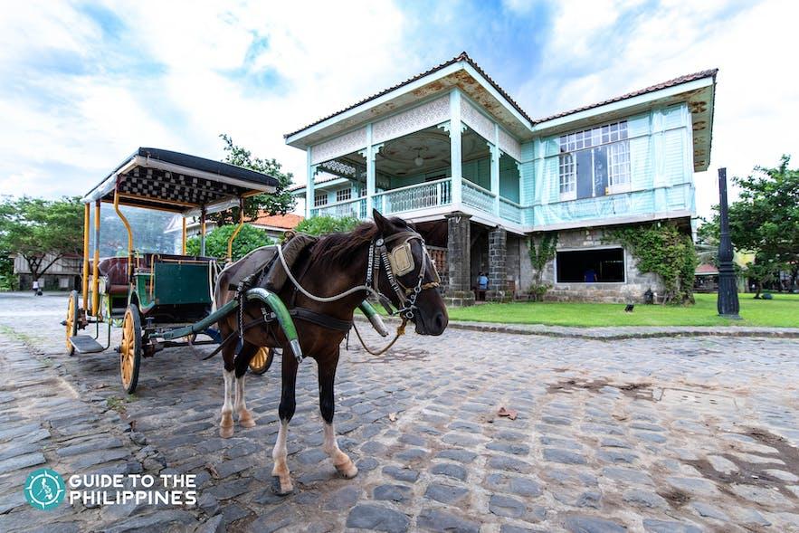 Kalesa tour around Las Casas Filipinas de Acuzar in Bataan