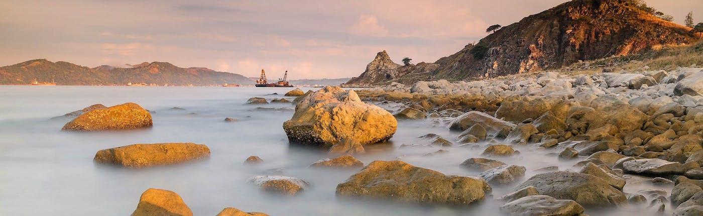 Sea side in Bataan, Philippines