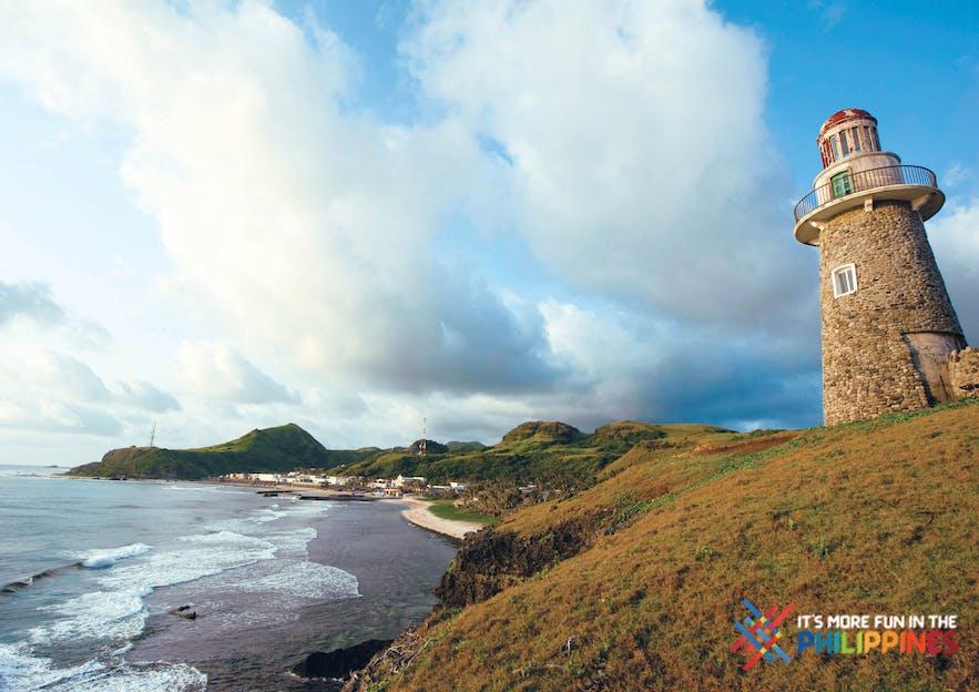 Waves crashing the shore near the Sabtang Lighthouse in Batan, Batanes