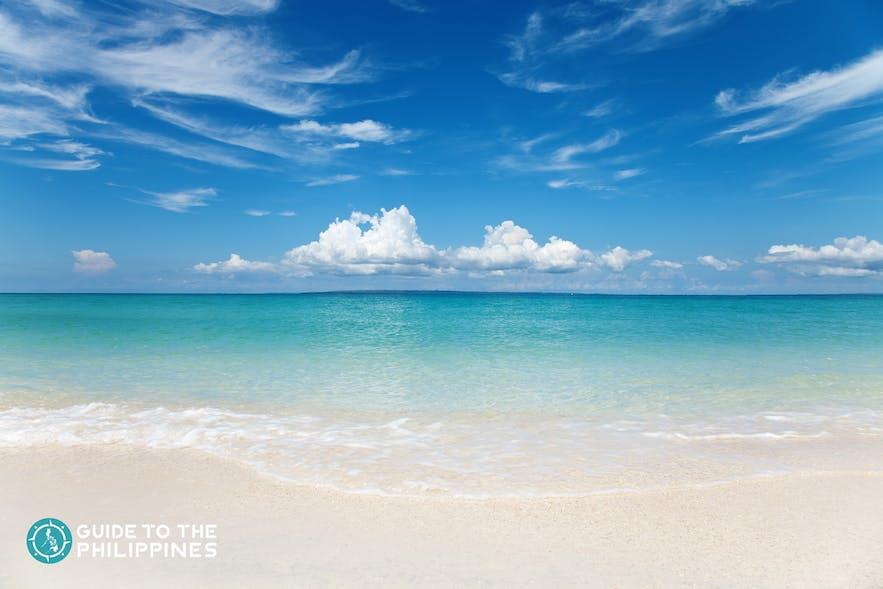 White powdery sand of Bantayan Island beaches