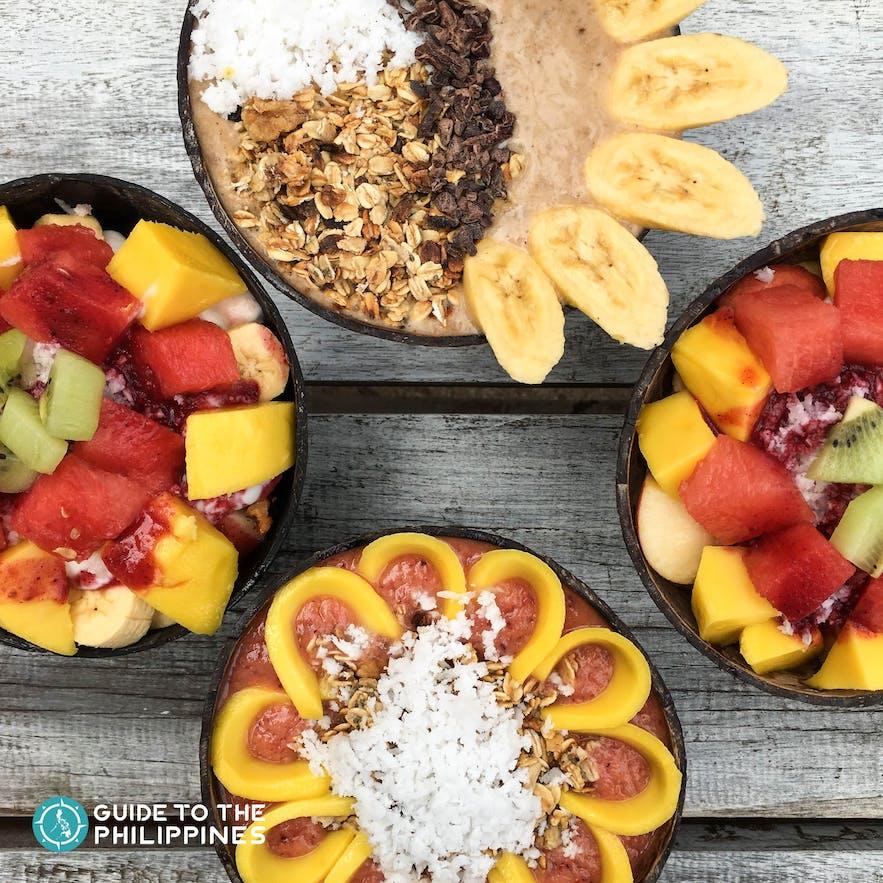 Smoothie bowl at Shaka Cafe in Siargao Island