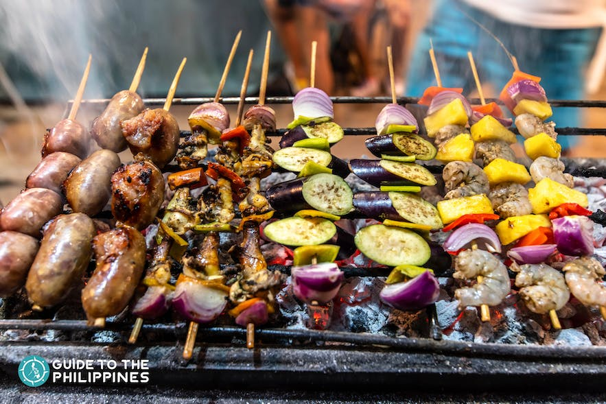 Seafood and meat barbecue in Siargao Island