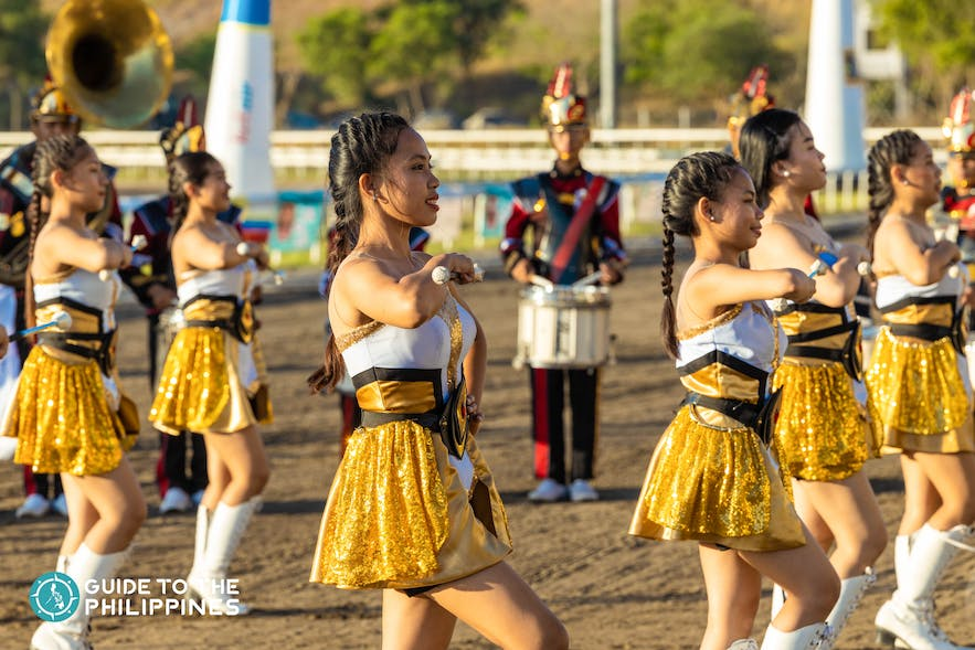 Majorettes at the Hot Air Balloon Festival in Cavite, Philippines