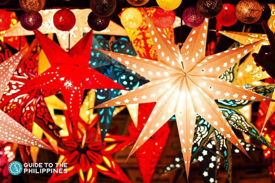 Christmas lanterns in the Philippines