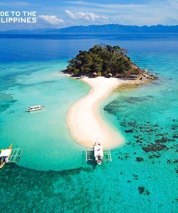 Aerial view of an island in Coron, Palawan