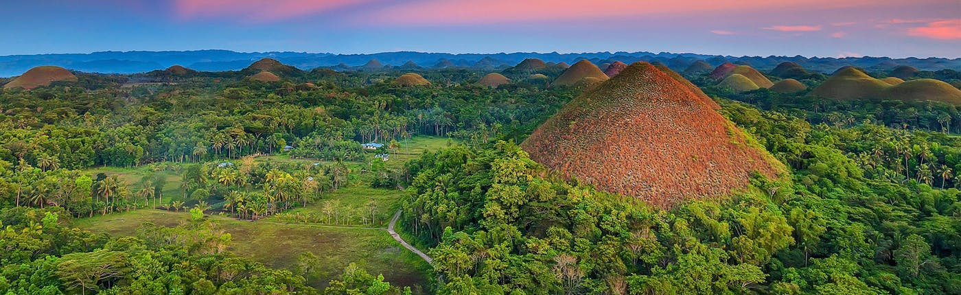 Famous Chocolate Hills in Bohol, Philippines