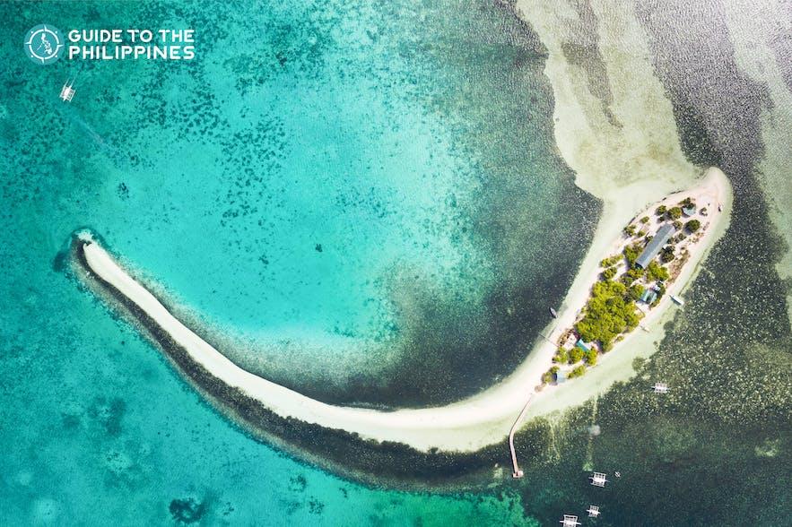 Top view of Virgin Island in Bohol, Philippines