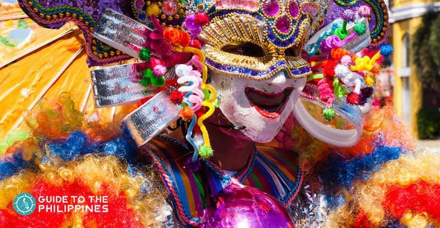 Smiling mask at the Masskara Festival, Bacolod City.