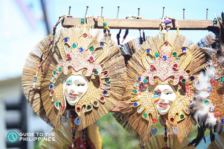 Masks being prepared for Kadayawan Festival