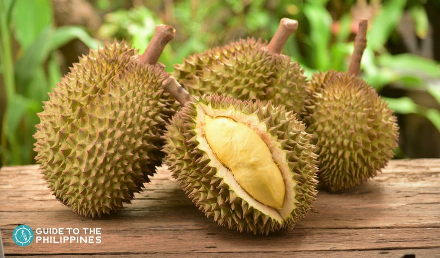 Durian, the local fruit in Davao